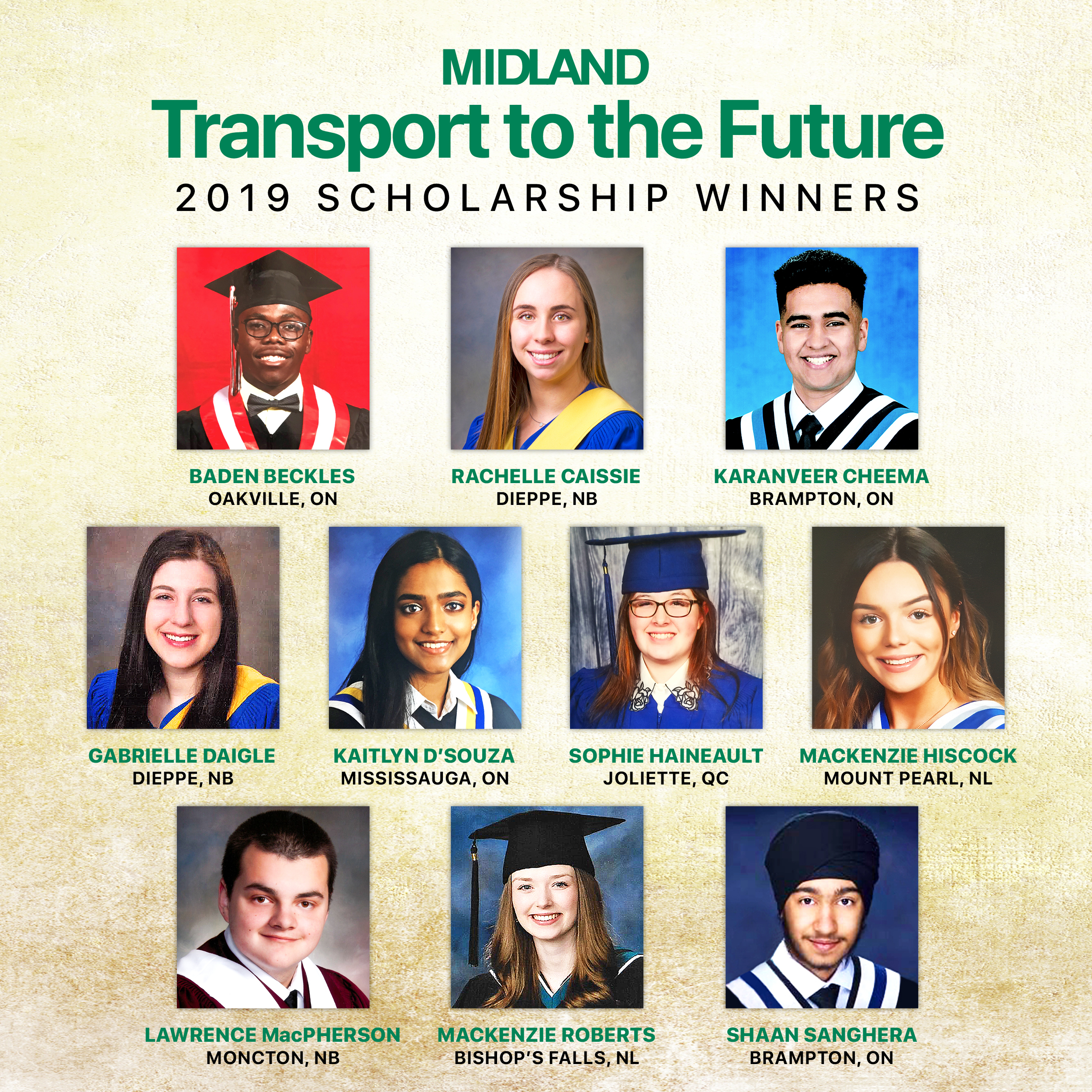 2019 Transport to the Future Scholarship